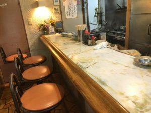富士川食堂の店内