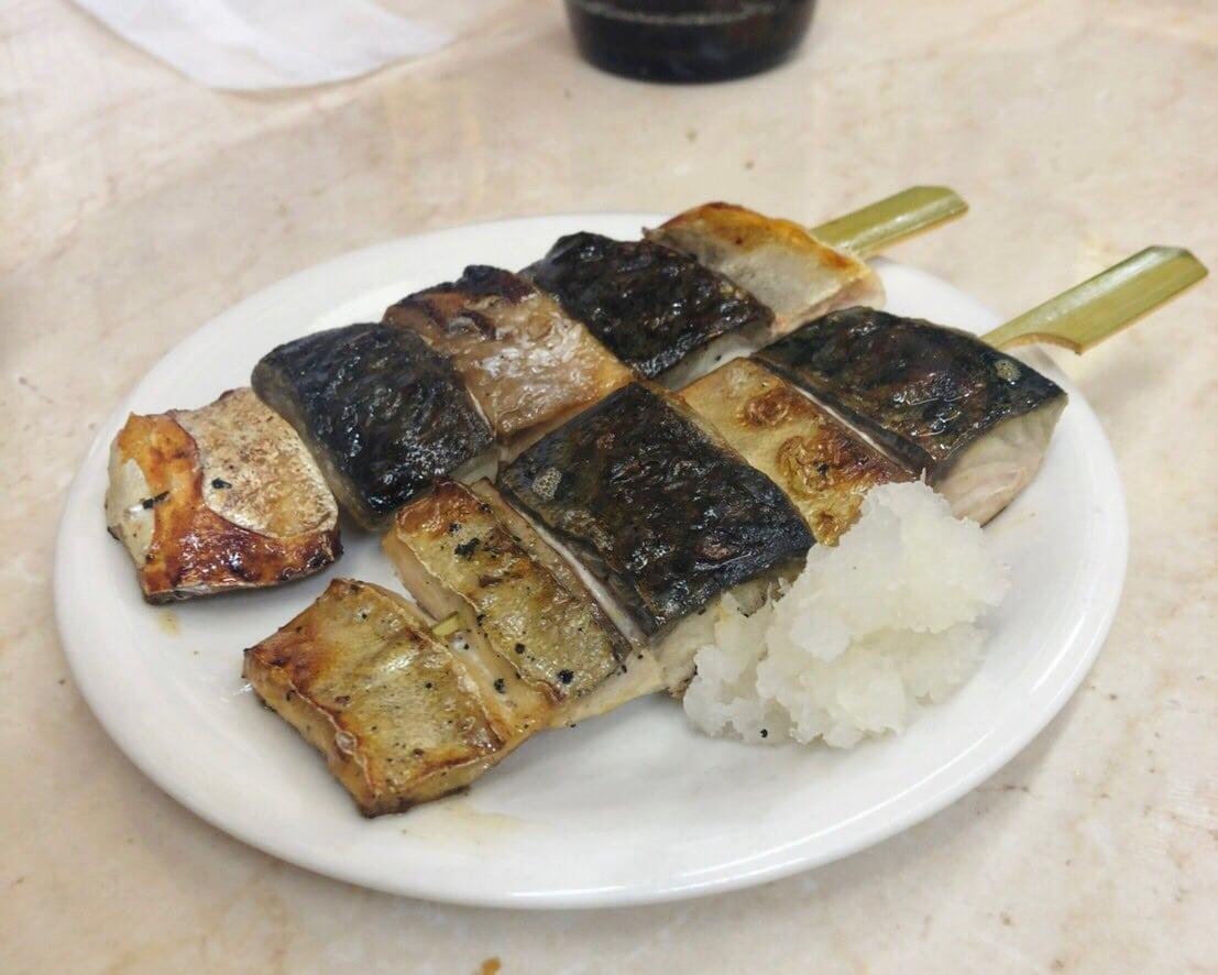 銀鯖の串焼き③
