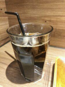 ジューザバーガーのアイスコーヒー